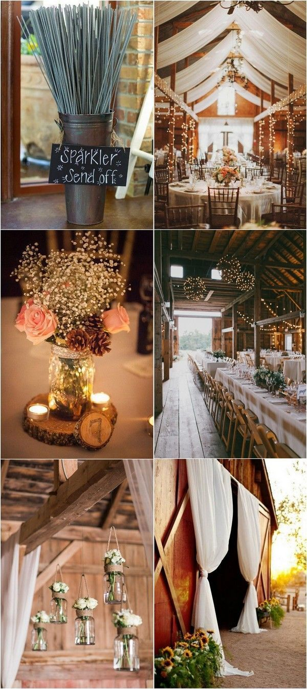 country rustic barn themed wedding decoration ideas ...