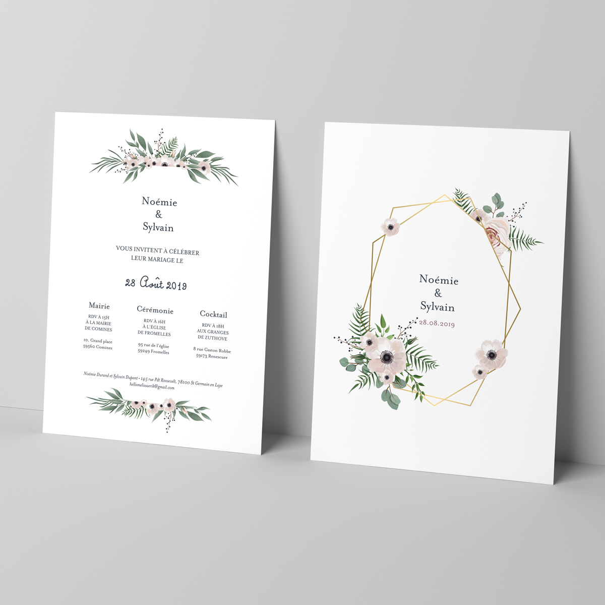 Faire-part mariage Champêtre - mariage - Grand rectangle simple