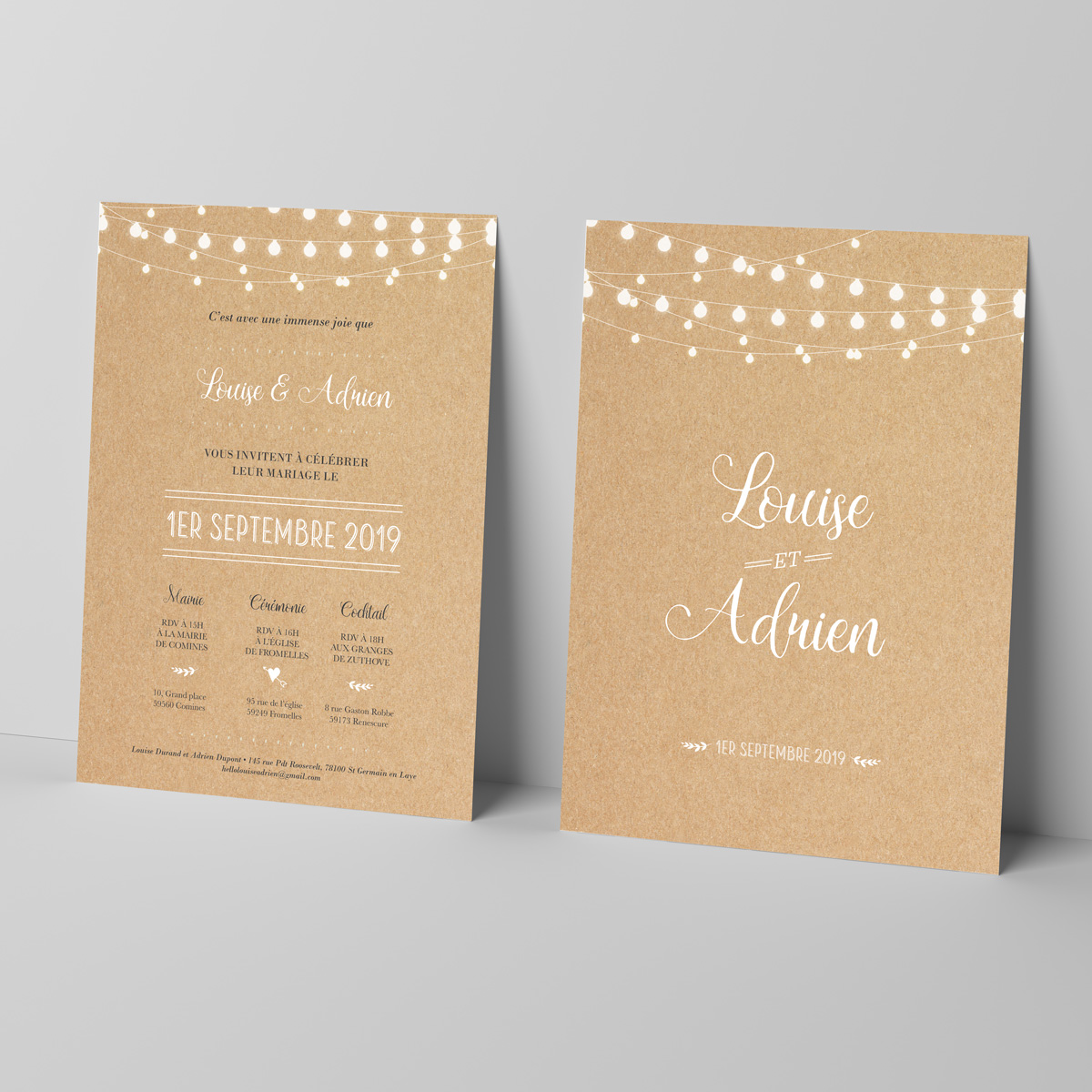 Faire-part mariage Perfect Day Kraft - mariage - Grand ...